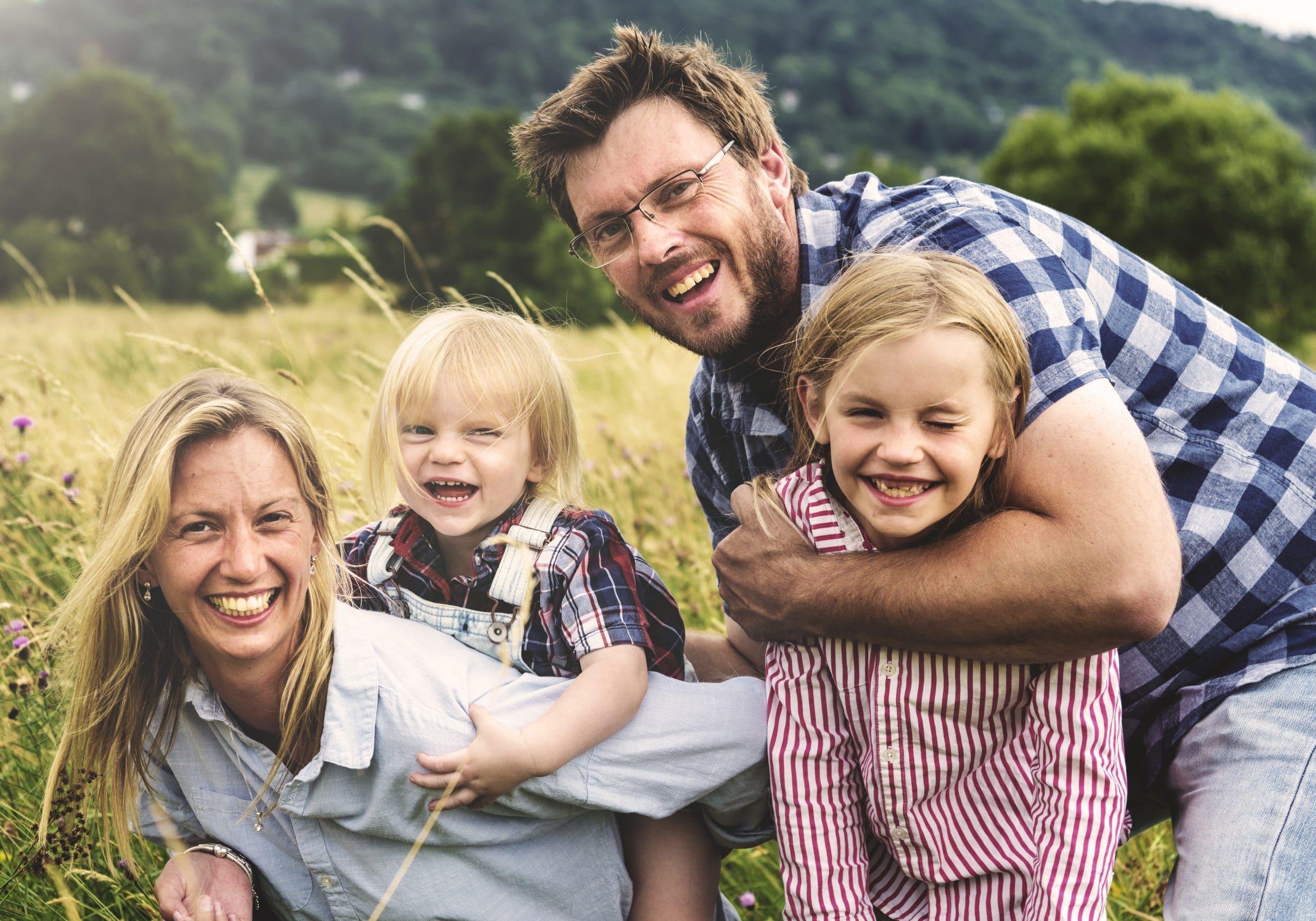 Familie uden fobi for flåter